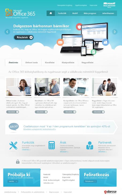 a felhőben.com főoldala